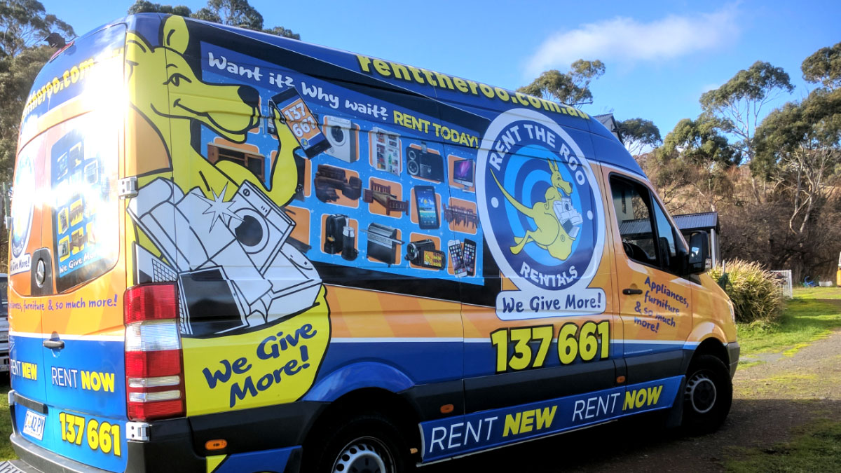 Rent The Roo Vehicle Signage