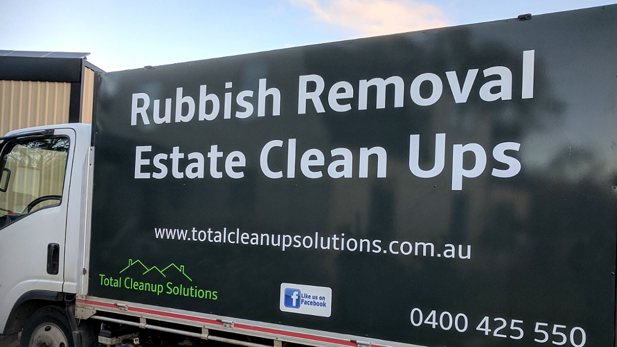Total Cleanup Solutions Truck Signage